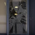 chris brown window damage